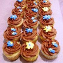 Vanilla cupcakes with chocolate buttercream